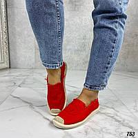 Код 753 Эспадрильи channe Материал: текстиль Цвет: красный Размеры: 36-41 ( размер в размер ) Производитель: В, фото 1