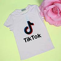 Детская футболка для девочки Tik-tok розовая тм Glo-Story размер 134,140,146,152,158
