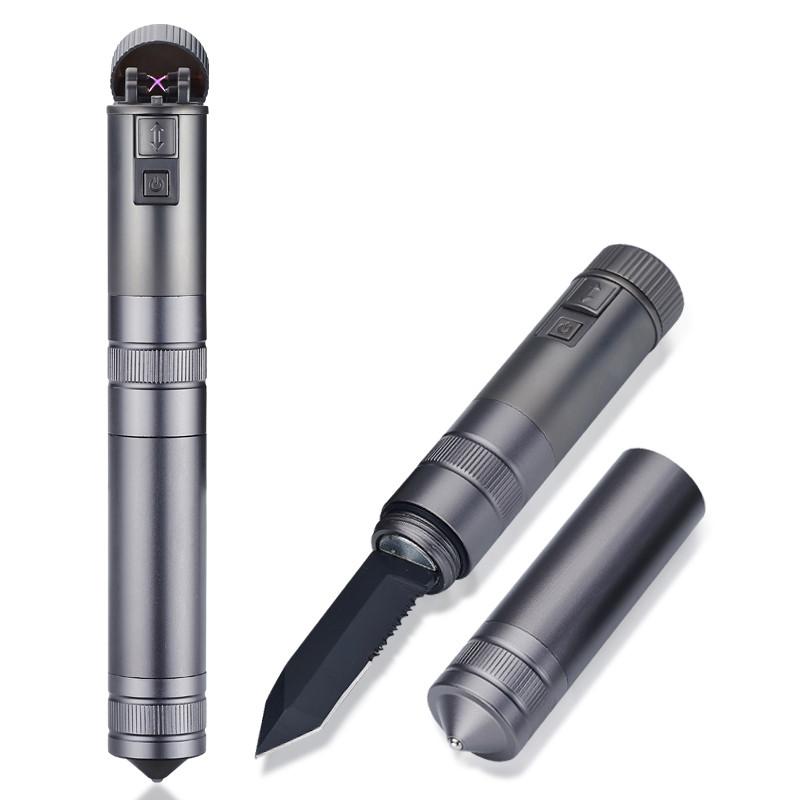 Электроимпульсная USB зажигалка-нож DAE 075_1