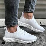 😜Кросівки - Чоловічі білі легкі кросівки, фото 2