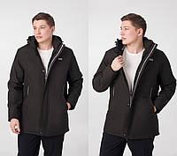 Мужские куртки демисезонные удлиненные с капюшоном размперы 50-60