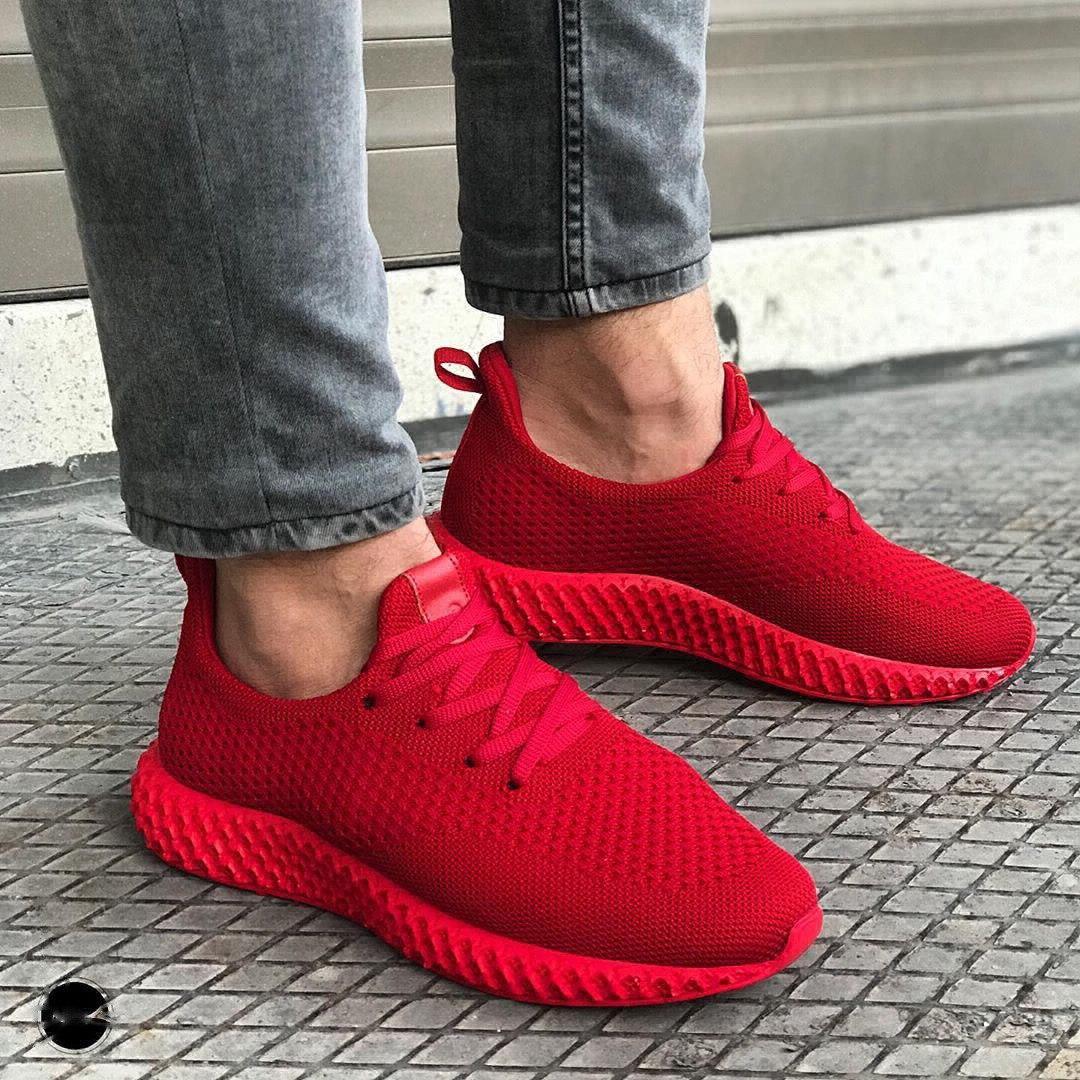 😜Кроссовки - Мужские красные легкие кроссовки