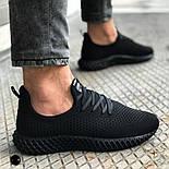 😜Кроссовки - Мужские черные легкие кроссовки, фото 2