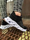 😜Кроссовки - Мужские черные легкие кроссовки с оригинальной подошвой, фото 2