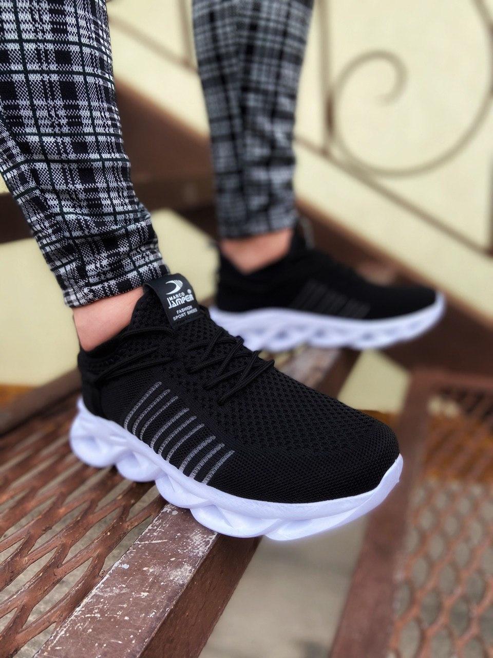 😜Кроссовки - Мужские черные легкие кроссовки с оригинальной подошвой