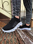 😜Кроссовки - Мужские черные легкие кроссовки с оригинальной подошвой, фото 4
