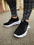 😜Кроссовки - Мужские черные легкие кроссовки с оригинальной подошвой, фото 5