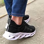 😜Кроссовки - Мужские черные легкие кроссовки с оригинальной подошвой, фото 6