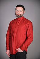 Мужская рубашка красного цвета для официанта