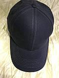 Бейсболка  из трикотажной ткани размер 55--58 цвет темно серый, фото 2
