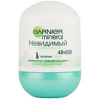 """Кульковий дезодорант-антиперспірант для тіла """"Невидимий"""" проти вологості Garnier Mineral 50 мл"""