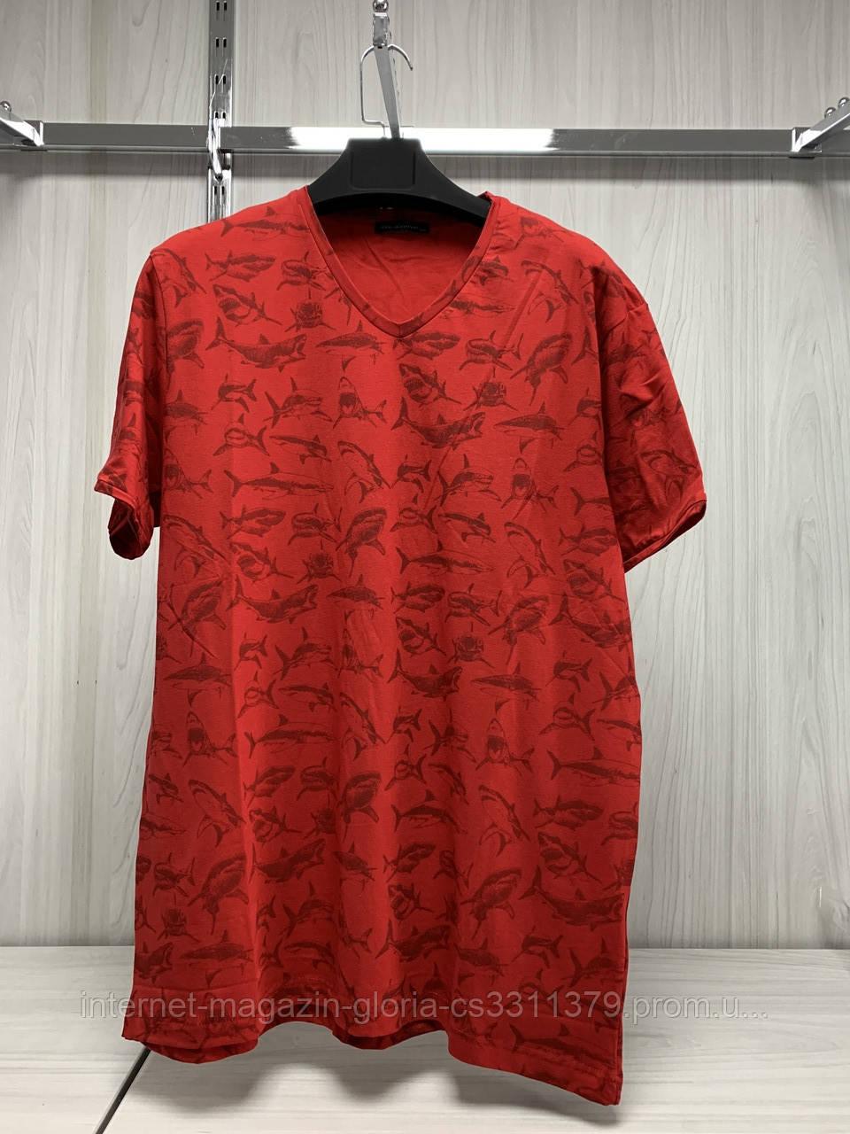 Мужская футболка Tony Montana. MSL-2072(kirmizi). Размеры: M,L,XL,XXL.