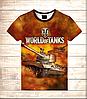 Футболка 3D Tanks in fire
