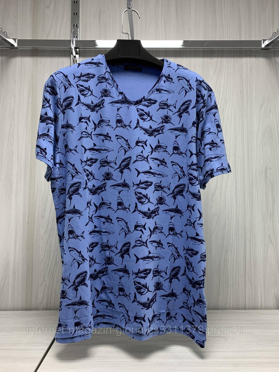 Мужская футболка Tony Montana. MSL-2072(mavi). Размеры: M,L,XL,XXL.