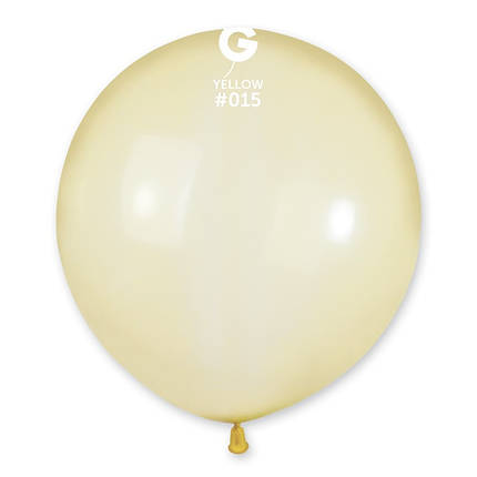 "Шар 19"" (48 см) Gemar кристалл 15 желтый (Джемар), фото 2"