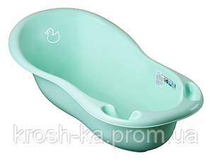 Ванночка детская Уточка 102см Tega Польша мятная DK-005-131