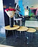 Комплект журнальних столів CS-15 горіх Vetro Mebel (безкоштовна доставка), фото 2