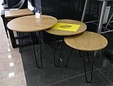 Комплект журнальних столів CS-15 горіх Vetro Mebel (безкоштовна доставка), фото 3
