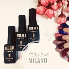 Гель-лаки Milano Cosmetic и палитры их оттенков