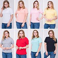 Женская футболка Поло увеличенного размера, фото 1