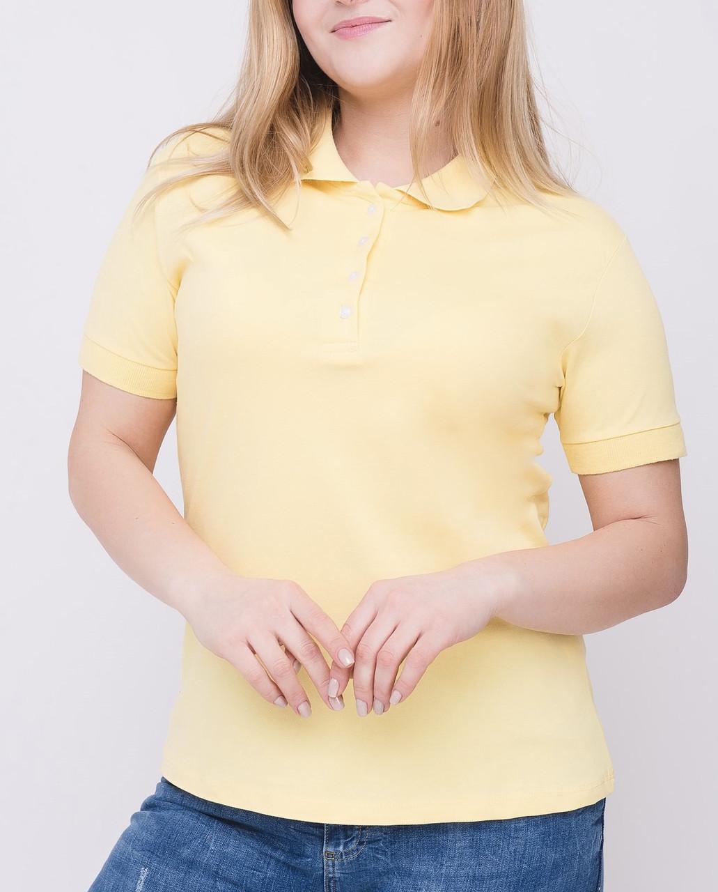 Женская футболка Поло увеличенного размера