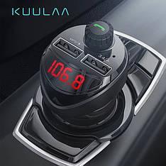 Автомобильный FM-трансмиттер KUULAA LC01 модулятор USB автомобильное зарядное устройство Black