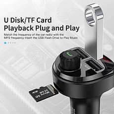 Автомобильный FM-трансмиттер KUULAA LC01 модулятор USB автомобильное зарядное устройство Black, фото 2