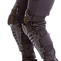 Мото-захист наколінники Комплект мотозащиты колін і гомілки FOX RAPTOR 2 шт Чорний (MS-7047)