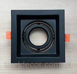 Карданный светильник Feron DLT 201 черный встраиваемый поворотный
