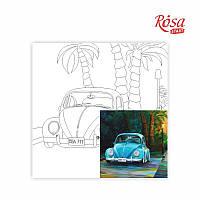 "Полотно с контуром ""ROSA START"" на картоне 30х30 ""Пейзаж"" №28 хлопок акрил 013"