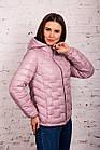 Стильная женская куртка - лак Монклер - весна 2020 - (кт-117), фото 4