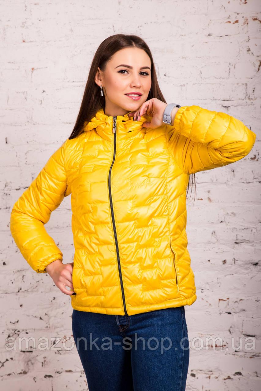 Стильная женская куртка - лак Монклер - весна 2020 - (кт-117)