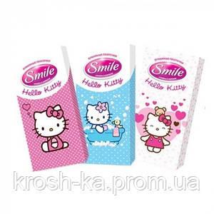 Сухие платочки детские Helloy Kitty 10 шт Smile baby 672