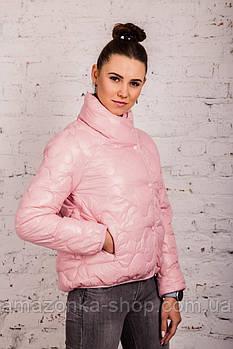 Женская куртка - лак Монклер - весна 2020 - (кт-118)