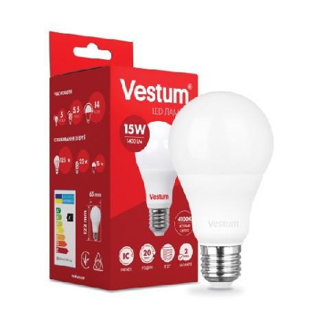 Світлодіодна лампа 15W E27 4100K VESTUM