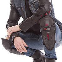 Комплект мотозахисту PROMOTO Захист колін гомілки і ліктів Пластик PL Чорний (MS-1235)