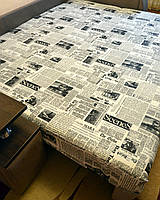 """Простынь на резинке 160х200 см """"Газета"""" in Luxury™ 32054"""