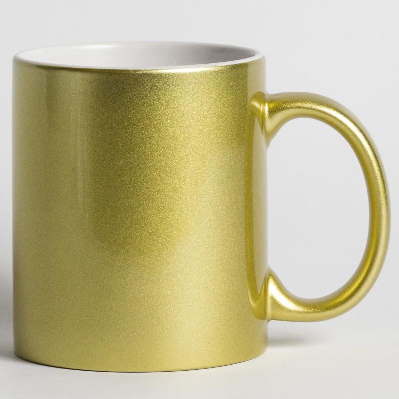 Чашка для сублимации перламутровая (золото)