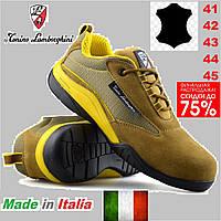 Кроссовки мужские рабочие Tonino Lamborghini кожаные, защитные, тактические со стальным носком., фото 1