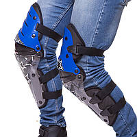 Комплект мотозащиты Alpinestars Reflex, наколенники (колень+голень) пластик, PL, черно-синий (MS-4372)