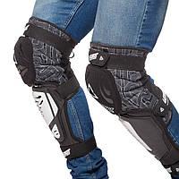 Наколінники для мотокросу (коліно, гомілка) 2шт LEATT HYBRID 3DF, нейлон, PL, EVA, чорно-білий (MS-0293)