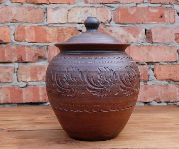 Супник 6 л из красной глины - гончарная посуда