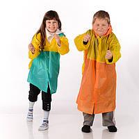 Плащ дождевик детский с местом под ранец , размер M