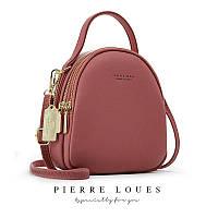 Женская модная молодежная сумка - рюкзак 2 в 1 Forever Young темно-розовая