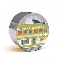 Скотч алюминиевый AL+PET 100 мм (30 мкм)
