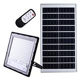 Прожектор JD-7200 200W, IP67, солнечная батарея, пульт ДУ, встроенный аккумулятор, таймер, датчик, фото 2