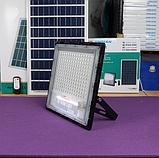 Прожектор JD-7200 200W, IP67, солнечная батарея, пульт ДУ, встроенный аккумулятор, таймер, датчик, фото 6