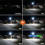 Прожектор JD-7200 200W, IP67, солнечная батарея, пульт ДУ, встроенный аккумулятор, таймер, датчик, фото 10