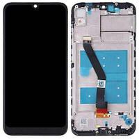 Дисплей для Huawei Honor 8A (JAT-LX) + тачскрин, черный, с передней панелью