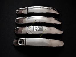 Накладки на ручки Ford Kuga 2008-2012, нерж. сталь 4 шт. - Защитные накладки Форд Куга